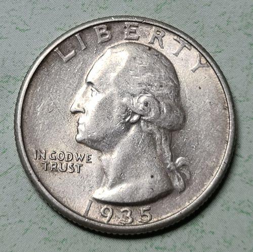 1935 Washington Quarter Almost Uncirculated-55