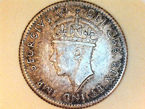 1941 C Newfoundland 5 Cents--92.5% Silver