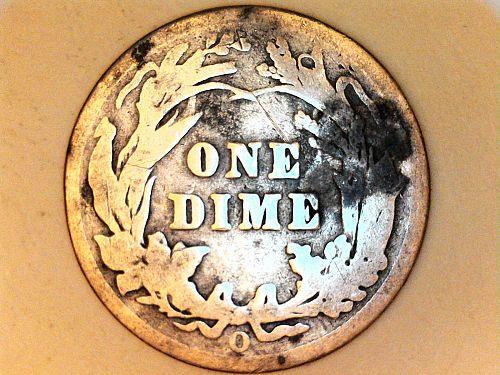 1901 O Barber Dime--Good
