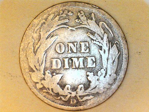 1910 D Barber Dime--Good-Very Good