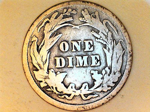 1914 P Barber Dime--Very Good