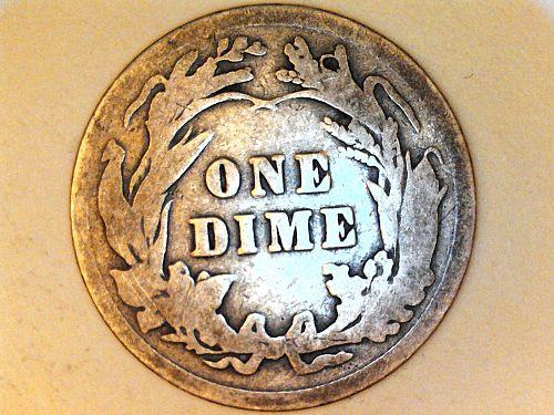 1915 P Barber Dime--Good