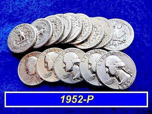 "1952-P  SILVER Quarter  ⭐️  ""VF"" Circulated Condition ⭐️  (2459)"