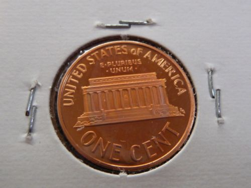 1998-S LINCOLN MEMORIAL CENT IN 2X2 FLIP FROM PROOF SET. *BEAUTIFUL*  J-29-20