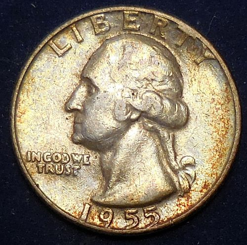 1955-P Silver Quarter