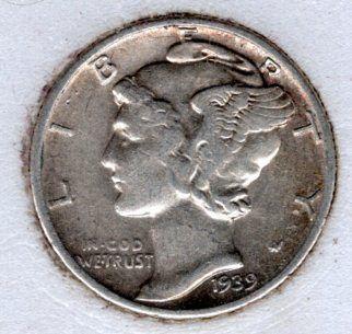 1939 P Mercury Dimes -#9f7