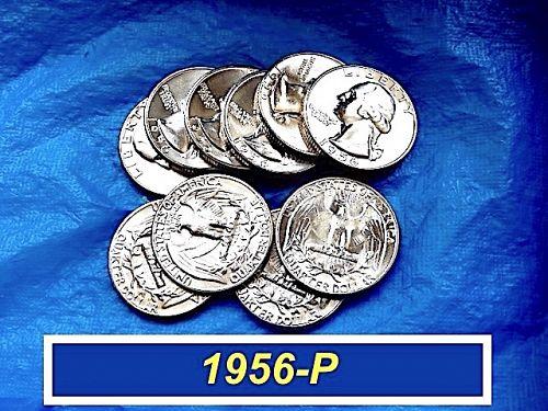 "1956-P ""BU""  Silver Quarter ⭐️  From Original Bank Roll   ⭐️ (2961)"