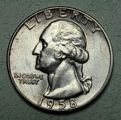1958-D Washington Quarter Almost Uncirculated-53