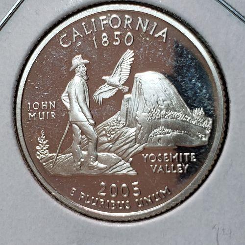 2005-S Silver Proof California quarter