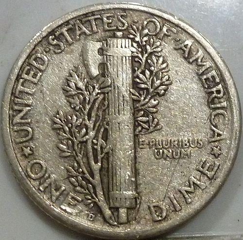 1918-D Very FINE Mercury Dime   ( 306)