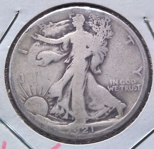 1921S Walking Liberty Half Dollar