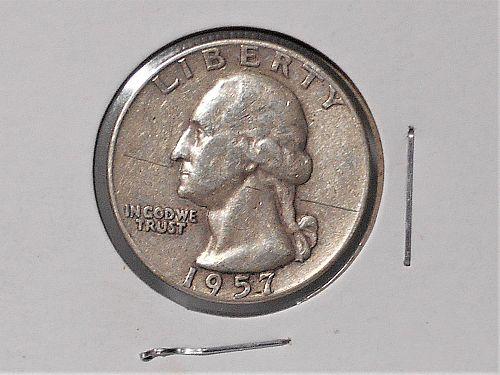 1957 D Washington quarter circulated