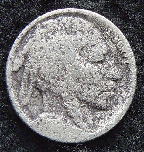 1917 P Buffalo Nickel (AG) corroded damaged
