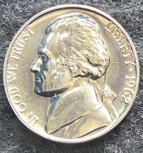 1962 P Jefferson Nickel (PL/FS)
