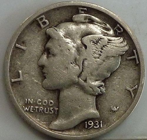 1931-S Very Fine Mercury Dime   ( 374)