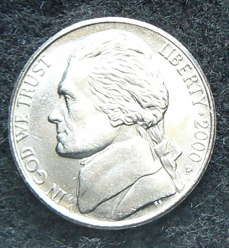 2000 P Jefferson Nickel