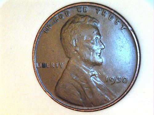 1930 P Lincoln Cent--VF