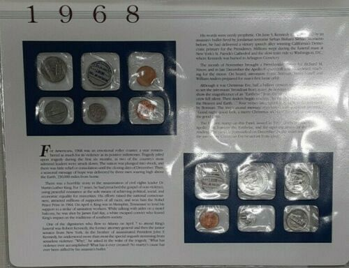 U.S. Uncirculated Coin Mint Sets Collection with Historic U.S. Stamps