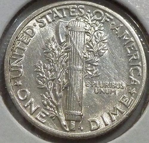 1935-P AU  Mercury Dime About Uncirculated ( 477)