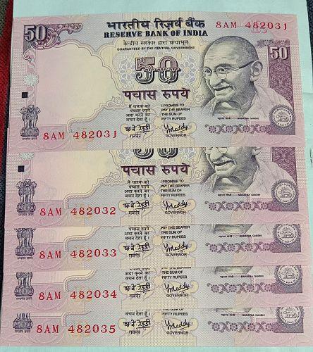 C)....India UNC continue 5 Notes..