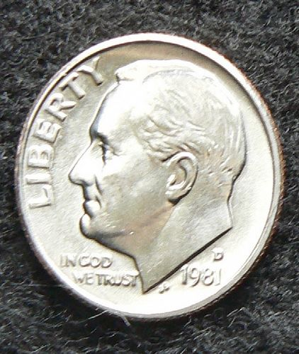 1981 D Roosevelt Dime