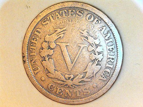 1901 Liberty Nickel---G-VG