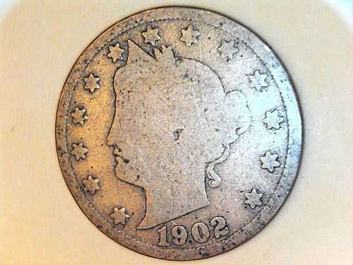 1902 Liberty Nickel---AG