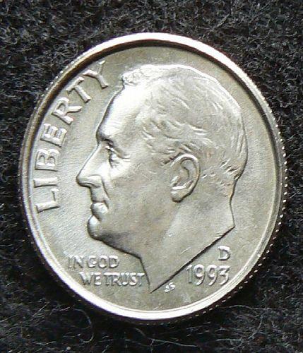1993 D Roosevelt Dime