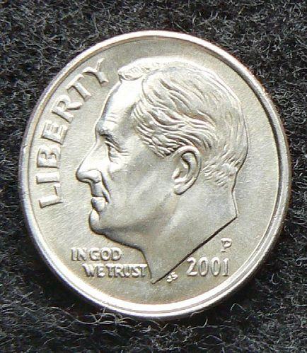 2001 P Roosevelt Dime