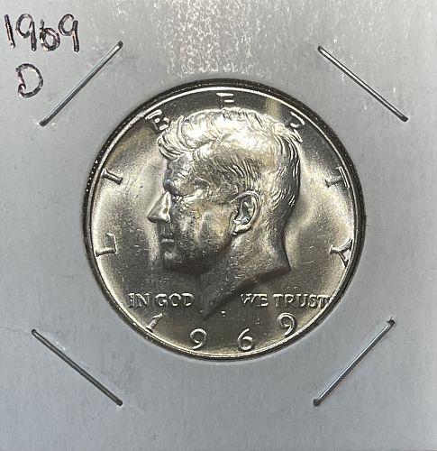 1969-D High Grade BU J.F. Kennedy 40% Silver Half Dollar