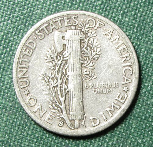 1943S Mercury Dime