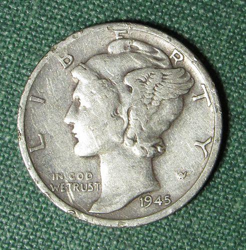 1945S Mercury Dime