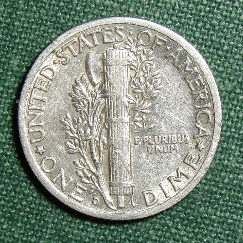 1940P Mercury Dime