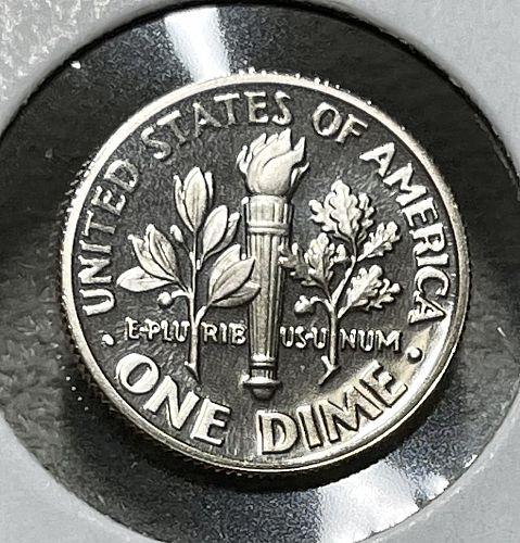 1990-S High Grade GEM-BU Cameo Proof (Direct from Mint Set) Roosevelt Dime