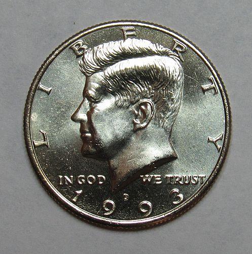 1993 D Kennedy Half Dollar in BU condition