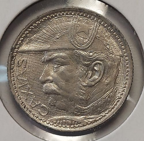 1935 Brazil 2000 Silver Reis Grading AU/BU Nice Uncleaned Coin Priced Right