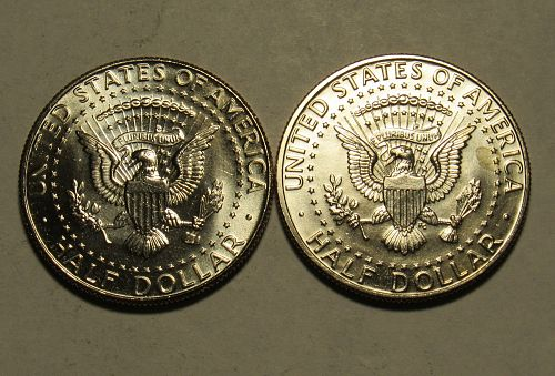 1990 P&D Kennedy Half Dollars in BU