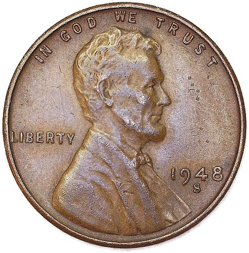 1948 S Lincoln Wheat Cent Good Condition