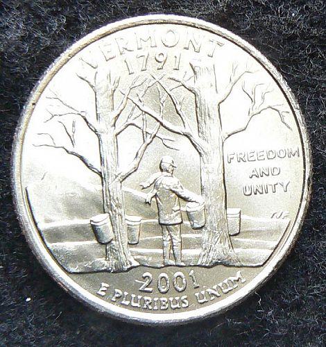 2001 P Vermont State Quarter