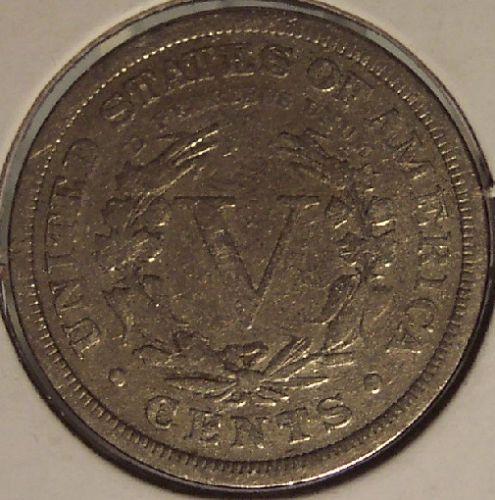 "1884 Liberty Head ""V"" Nickel VG+ #0175"