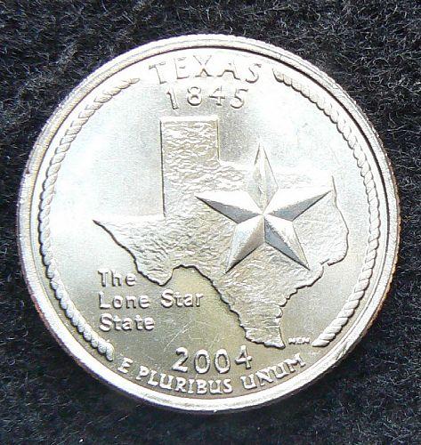 2004 D Texas State Quarter