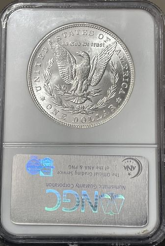 1887-P High Grade Choice BU/MS63 NGC Graded Morgan US Silver Dollar