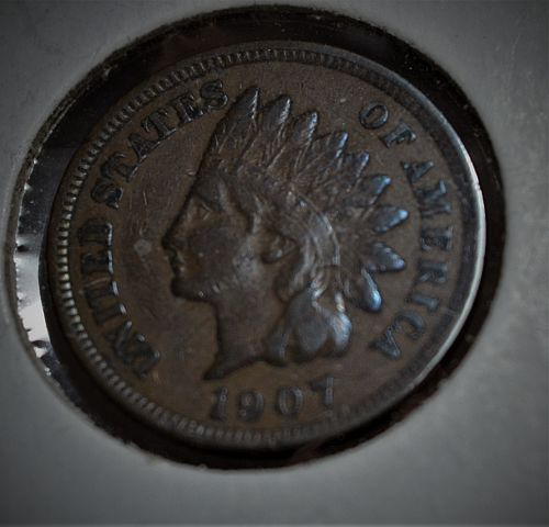 1907 Indian Head Cent - VF+