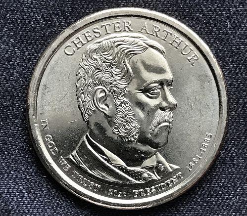 2012 D Uncirculated Presidential Dollar Coin---Chester A. Arthur (0823-7)