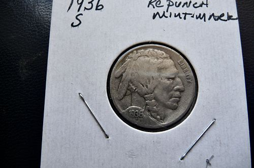 1936-S Buffalo Nickel