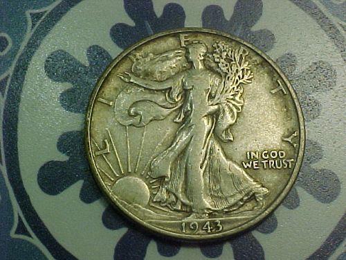 1943 WALKING LIBERTY HALF DOLLAR            aw12