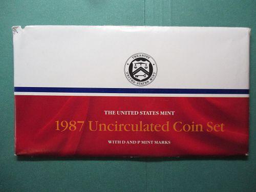 1987  United States Mint Set.  Item: MS 87.