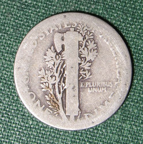 1917P Mercury dime