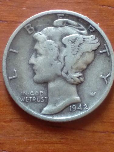 1942 p mercury dime au