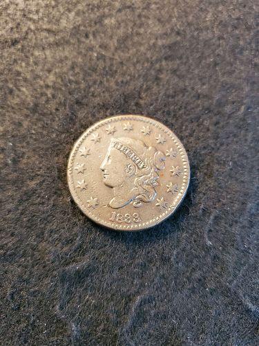 Nice Fine 1833 Large Cent
